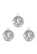 www.sayila.com - Metal pendants/charms coin 22x18mm - D29993