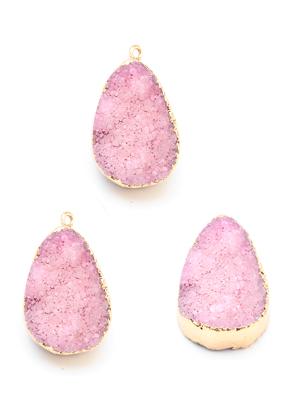 www.sayila.fr - Pendentif en pierre naturelle Crystal ovale 30-35x18-23mm
