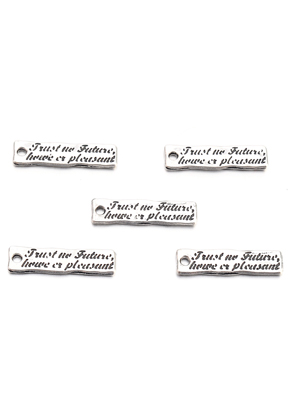 www.sayila.com - Metal pendants/charms with text 25x7mm