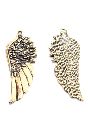 www.sayila.com - Metal pendants wing 58x22mm
