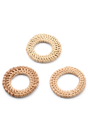 www.sayila.es - Colgante/conector de mimbre anillo 50-55x6mm