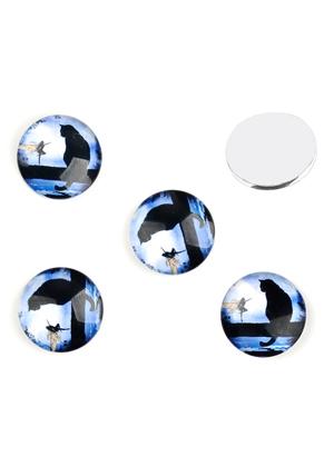 www.sayila.es - Piedras adhesivas/cabujones de vidrio redondo con gato 18mm