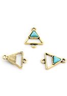www.sayila.es - Conectores de metal triángulo con piedra natural Turquoise Howlite 20,5x16mm - D30153