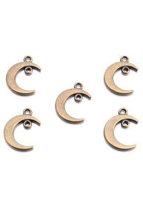 www.sayila.nl - Metalen hangers/bedels maan 29x14mm