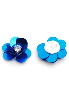 www.sayila.es - Aplicación flor con lentejuelas 30x13mm