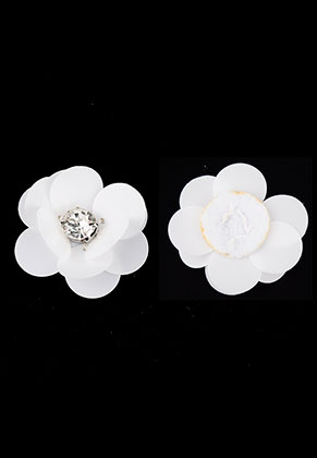 www.sayila.nl - Applicatie bloem met pailletten 30x13mm