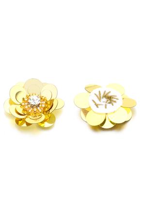 www.sayila.nl - Applicaties bloem met pailletten 30x12mm