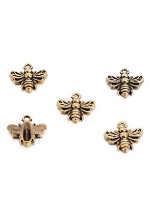 www.sayila.fr - Pendentifs/breloques en métal abeille 13x11,5mm