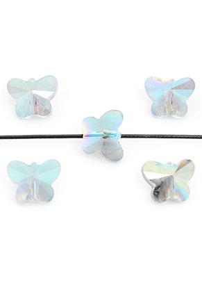 www.sayila.nl - Glaskralen kristal vlinder facet geslepen 10x8x6mm