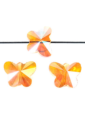 www.sayila.nl - Glaskralen kristal vlinder facet geslepen 15x12x8mm