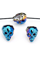 www.sayila.fr - Perle en verre cristal tête de mort/crâne avec facettes 20x17mm - D30489