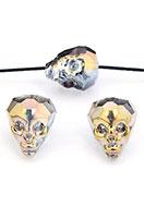 www.sayila.fr - Perle en verre cristal tête de mort/crâne avec facettes 20x17mm - D30490