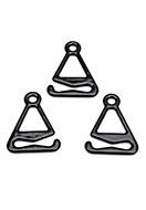 www.sayila-perlen.de - Metall Klammern mit Beschichtung um BH-Trägern zu machen 23x17mm - D30495