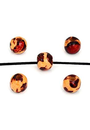 www.sayila.com - Wooden beads Schima round with leopard print 10x8,5mm