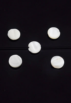 www.sayila.com - Mother of pearl beads flat round 8mm