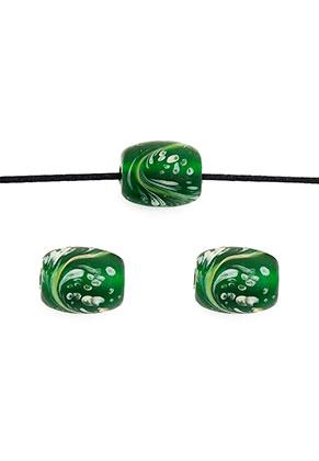 www.sayila-perlen.de - Italian style Glasperlen oval ± 15x12mm
