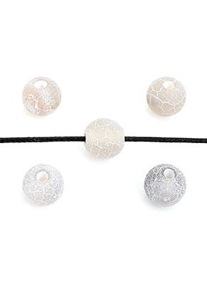 www.sayila.nl - Natuursteen kralen Agate rond crackle ± 6mm