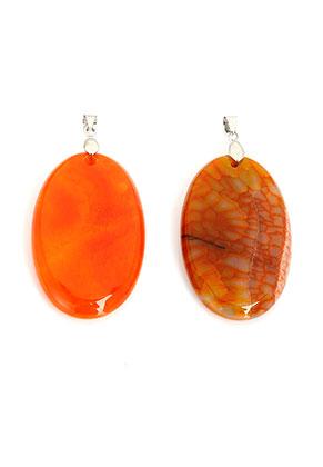 www.sayila.com - Natural stone pendant Agate oval ± 65x30mm
