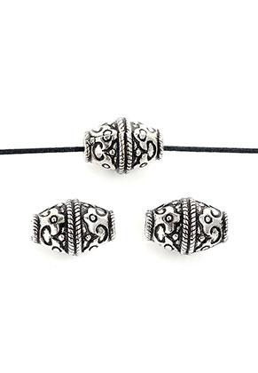 www.sayila-perlen.de - Metal Look Perlen oval 18x12,5mm