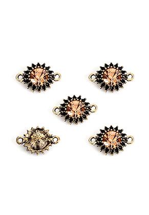 www.sayila.nl - Metalen tussenzetsels bloem met strass 15,5x10,5mm