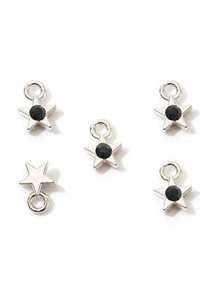 www.sayila.com - Metal pendants/charms star with strass 9x6,5mm