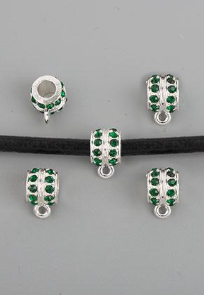 www.sayila.com - Metal beads roundel with eye and strass 12x7,5mm