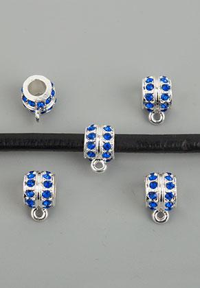 www.sayila.nl - Metalen kralen rondel met oogje en strass 12x7,5mm