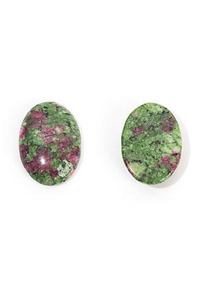 www.sayila.com - Natural stone flat back/cabochon Ruby Zoisite oval 25x18mm