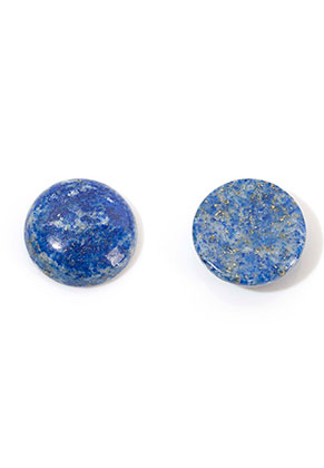 www.sayila.com - Natural stone flat back/cabochon Lapis Lazuli round 16mm