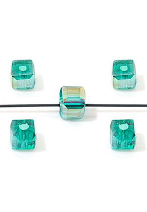www.sayila.nl - Glaskralen kristal kubus facet geslepen 4,5mm