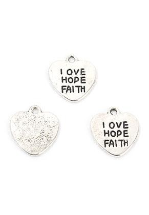 www.sayila.com - Metal pendants/charms heart with text 15,5x14mm