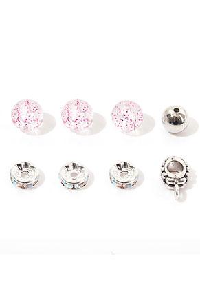 www.sayila-perlen.de - Mix Metall/Kunststoff Perlen 8-13x3-10mm