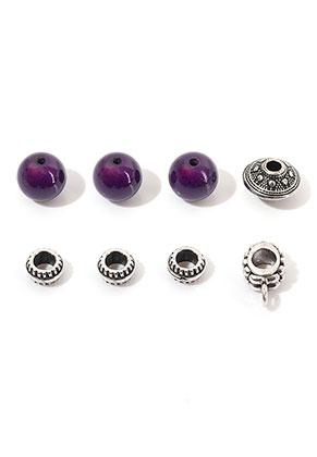 www.sayila-perlen.de - Mix Metall/Kunststoff Perlen 7-14x4-10mm