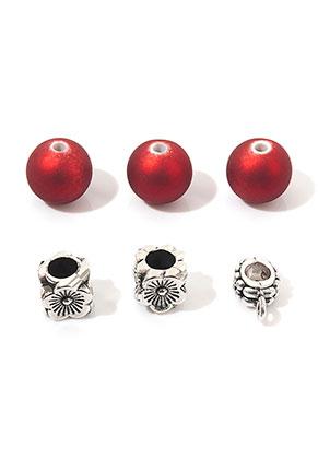 www.sayila-perlen.de - Mix Metall/Kunststoff Perlen 8-13x8-10mm