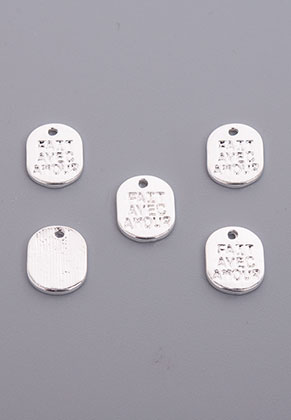 www.sayila.com - Metal pendants/charms oval with text Fait avec amour 10x8mm