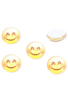 www.sayila.nl - Glas plakstenen/cabochons rond met emoji print 16mm
