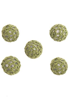 www.sayila-perlen.de - Kunststoffperlen mit Faden gehäkelt rund 15mm