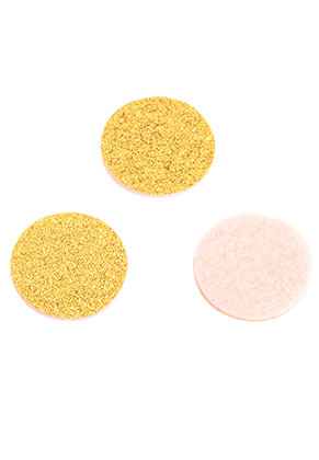 www.sayila.nl - Vilten Doublebeads EasySwitch schijven/parfumkussentjes met glitters 21mm