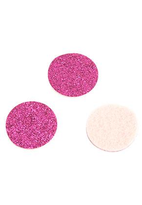 www.sayila.com - Felt Doublebeads EasySwitch discs/perfume pads with glitter 21mm