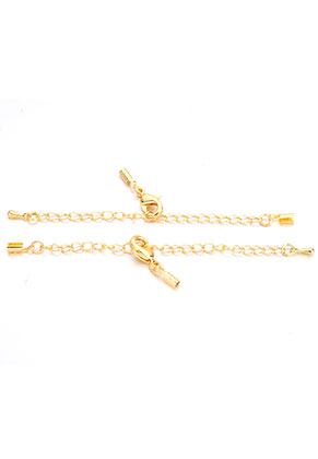 www.sayila.com - Metal extension chain 3-10cm with clips 8x3mm and clasp