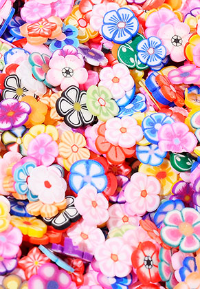 www.sayila.com - Mix polymer clay discs flower 5x5mm (± 4500 pcs.)