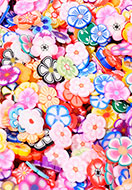 www.sayila.co.uk - Mix polymer clay discs flower 5x5mm (± 4500 pcs.) - D31609