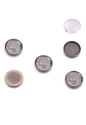 www.sayila.be - Brass Floating Charms 9mm met kastje en 8mm plaksteen