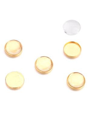 www.sayila.nl - Brass Floating Charms 13mm met kastje en 12mm plaksteen