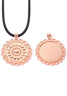 www.sayila.com - Metal pendant round 48x40mm with setting for 30mm flat back - D31741