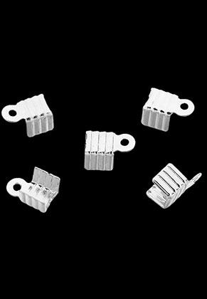 www.sayila.es - Terminales adaptables de metal para cordones y cuero 7x4mm (± 160 pzs.)