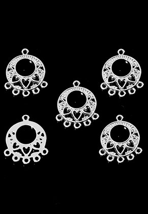 www.sayila.com - Metal pendants/connectors/dividers round with eyes 24x20mm