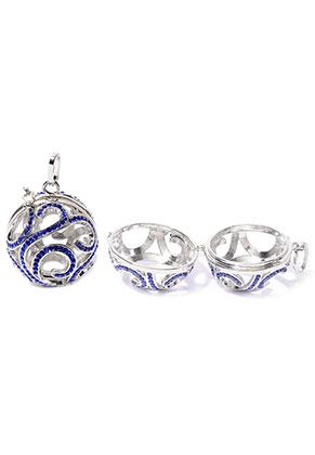www.sayila.com - Metal pendant angel caller/Prayer Box with strass 42x33mm