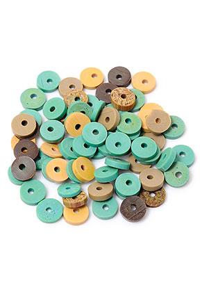 www.sayila.com - Mix polymer clay heishi beads 5x1mm (± 300 pcs.)