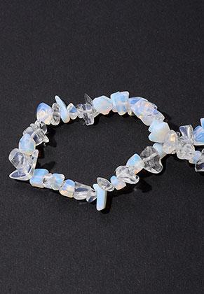 www.sayila-perlen.de - Naturstein Perlen Opalite 7-15x4-7mm (± 255 St.)